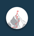 route to top mountain concept business vector image