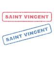 saint vincent textile stamps vector image