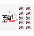 sale label showing number days left vector image vector image