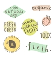 set hand drawn cute labels vector image vector image