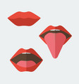 set of feminine lips vector image vector image
