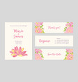 set of wedding party invitation save the date vector image vector image