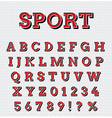 Sport style letters set vector image
