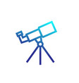 telescope astronomy icon vector image vector image