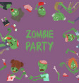 vecctor zombie cartoon halloween magic people body vector image vector image