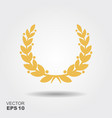 victory wreath icon vector image
