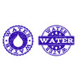 water grunge stamp seals vector image vector image