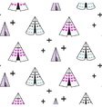 wigwam kid seamless pattern vector image