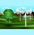 wind power plants with pin vector image vector image