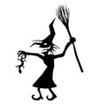witch evil newt stencil vector image
