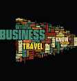 your first business trip text background word vector image vector image