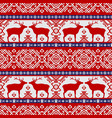 seamless pattern with deers vector image