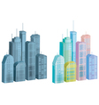 icons of city vector image