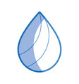 silhouette natural drop to environment care vector image