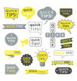advice quick tips helpful tricks and suggestions vector image vector image