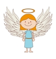 angel smiling icon graphic vector image