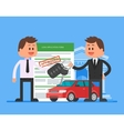 Approved car loan Buying vector image vector image