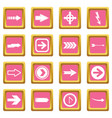 arrow icons pink vector image vector image