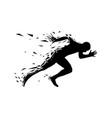 athlete sprinter runner start run vector image vector image