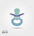 baby pacifier blue flat vector image