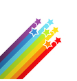 Background with rainbow stars vector image