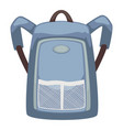 backpack with adjustable straps bag with pockets vector image vector image