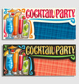 banners for cocktail party vector image vector image