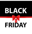 Black Friday Black and white vector image