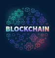 blockchain round concept colorful line vector image vector image