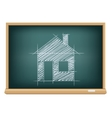 board house sketch vector image vector image