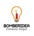 Bomber Idea Logo vector image vector image