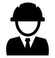 builder black icon vector image vector image