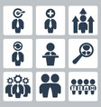business and partnership icons set vector image