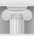 capital of ionic column vector image