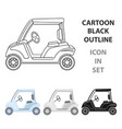 car for golfgolf club single icon in cartoon vector image vector image