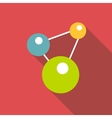 Chemistry icon flat style vector image vector image