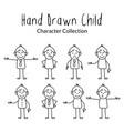 chideren character design set vector image
