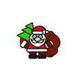 classic santa in red suit vector image vector image