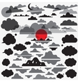 clouds set icons vector image vector image