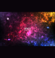 colorful nebula realistic space background color vector image vector image