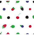 colorful seamless pattern with berries vector image