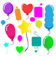 cute party balloon on white background vector image vector image