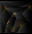 dark polygonal background with cracks and light vector image vector image
