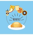 delicious and nutritive breakfast icon vector image