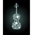 Diamond Violin vector image