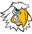 eagle head logo mascot vector image vector image