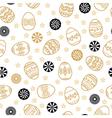 easter golden pattern vector image vector image