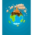 Ecological infographics Earth vector image vector image