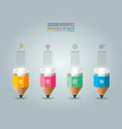 education infographics template 4 step option vector image vector image