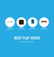 flat icon technology set of cpu memory vector image vector image